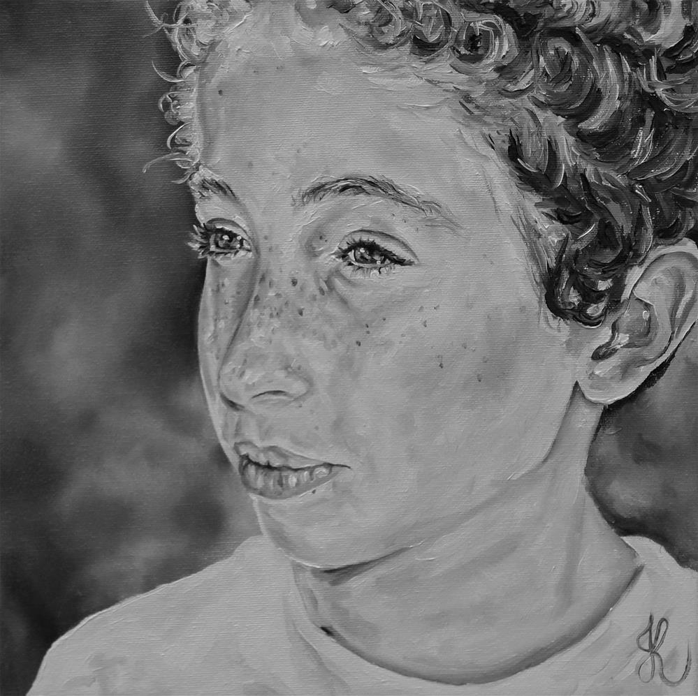"""Grand child #2"" original fine art by Jacinthe Rivard"