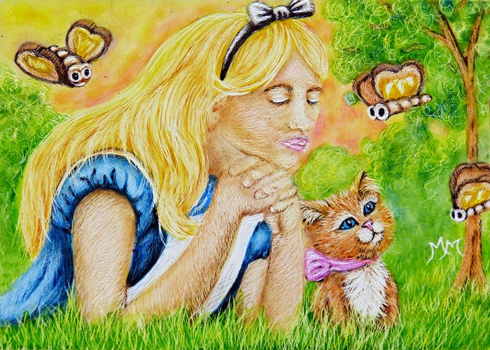 """Dreaming of Wonderland"" original fine art by Monique Morin Matson"