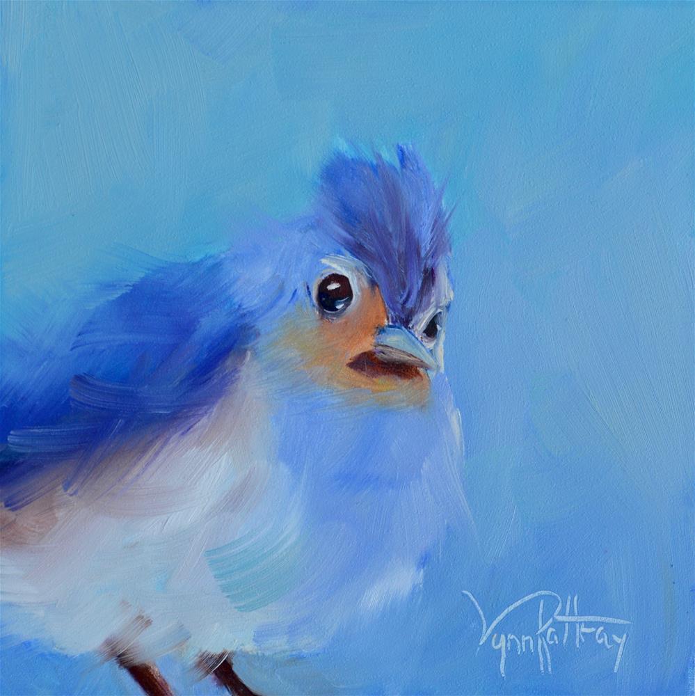 """Who, Me?"" original fine art by Lynn Rattray"