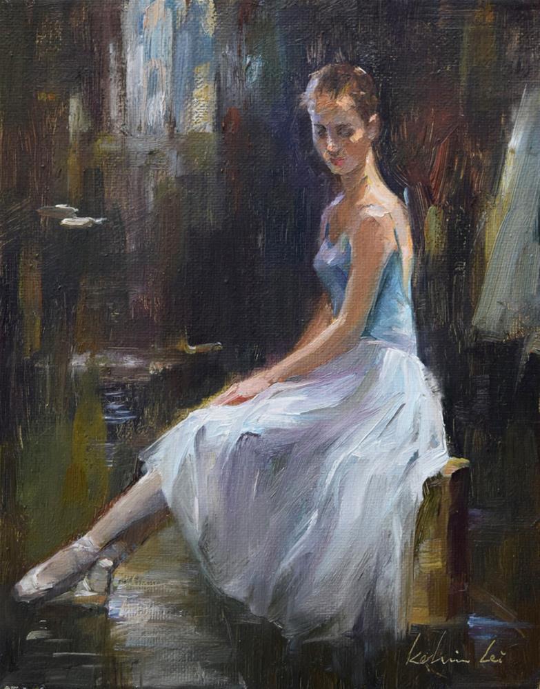 """Ballerina (16)"" original fine art by Kelvin Lei"