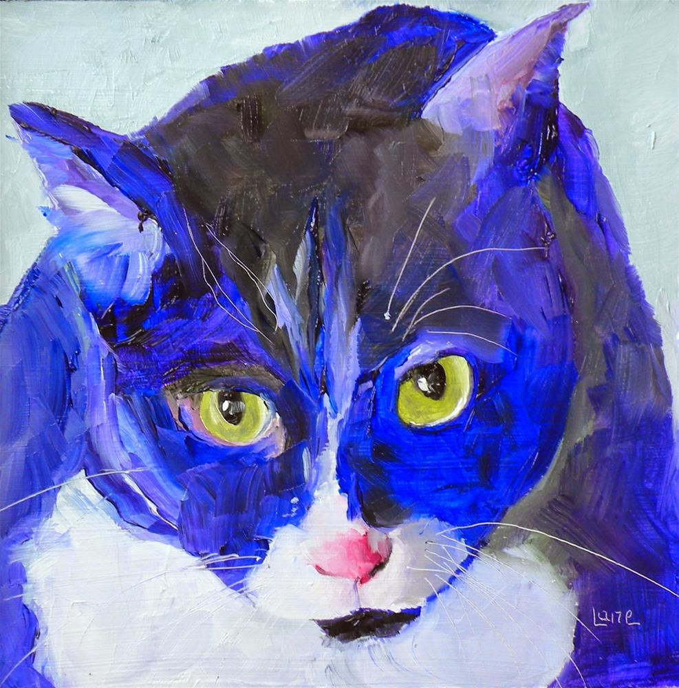 """DEXTER 29/100 OF 100 PET PORTRAITS IN 100 DAYS © SAUNDRA LANE GALLOWAY"" original fine art by Saundra Lane Galloway"