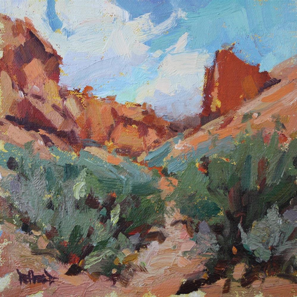 """""""Desert Canyon Clouds"""" original fine art by Cathleen Rehfeld"""