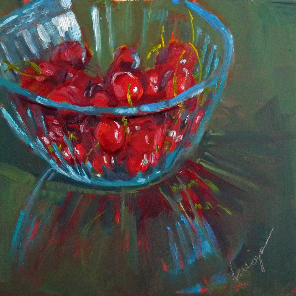 """Life Is Like A Bowl Of..."" original fine art by Sharman Owings"