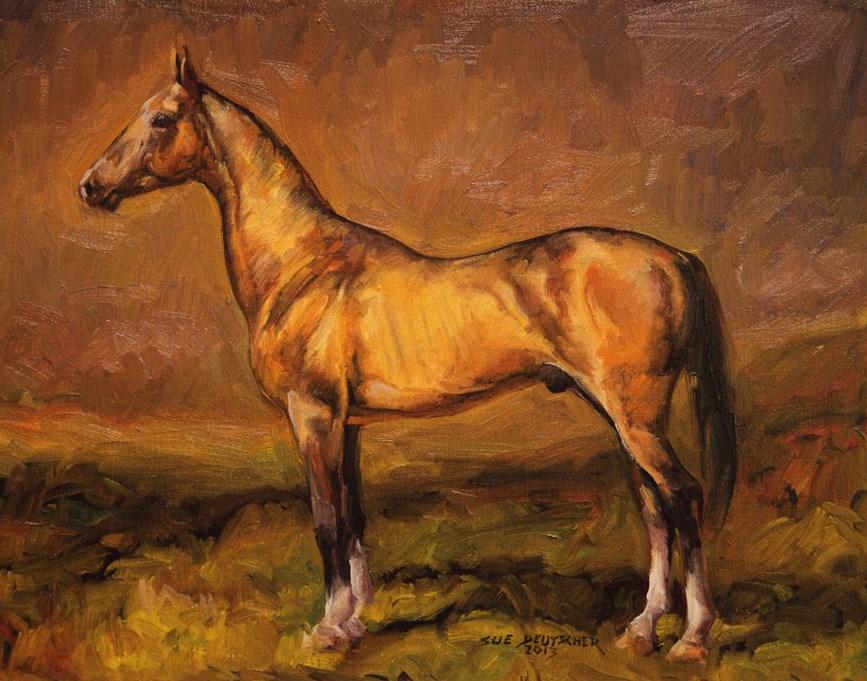 """""""Akhal-Teke"""" original fine art by Sue Deutscher"""