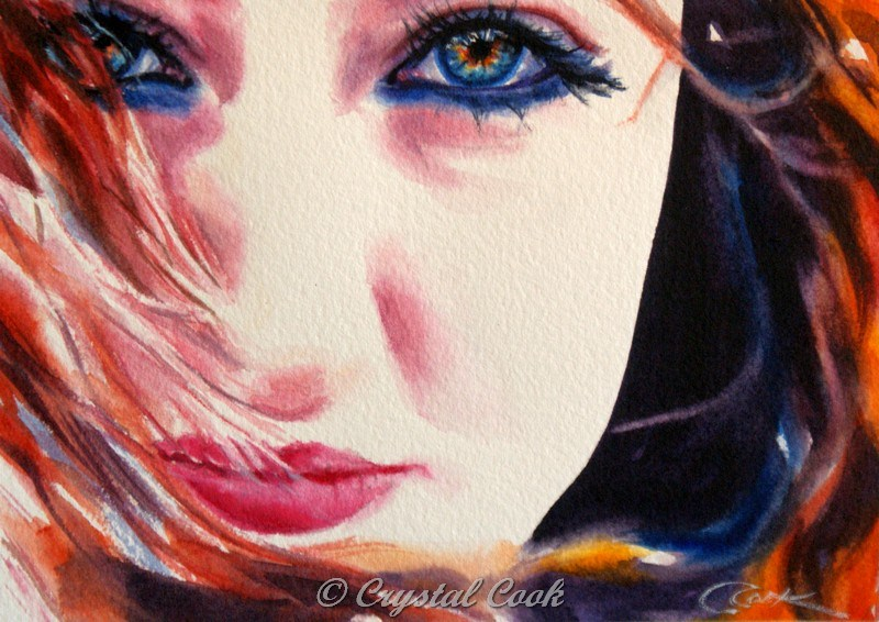 """Untamed"" original fine art by Crystal  Cook"