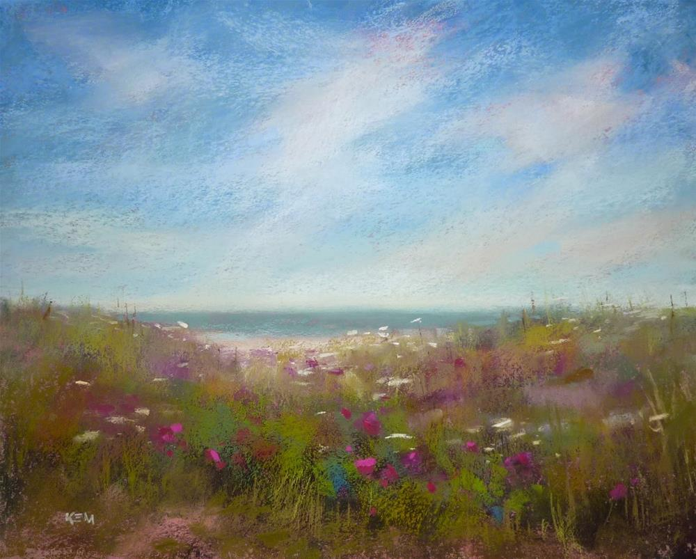 """Pastel Demo on Canson Paper...New England Summer"" original fine art by Karen Margulis"