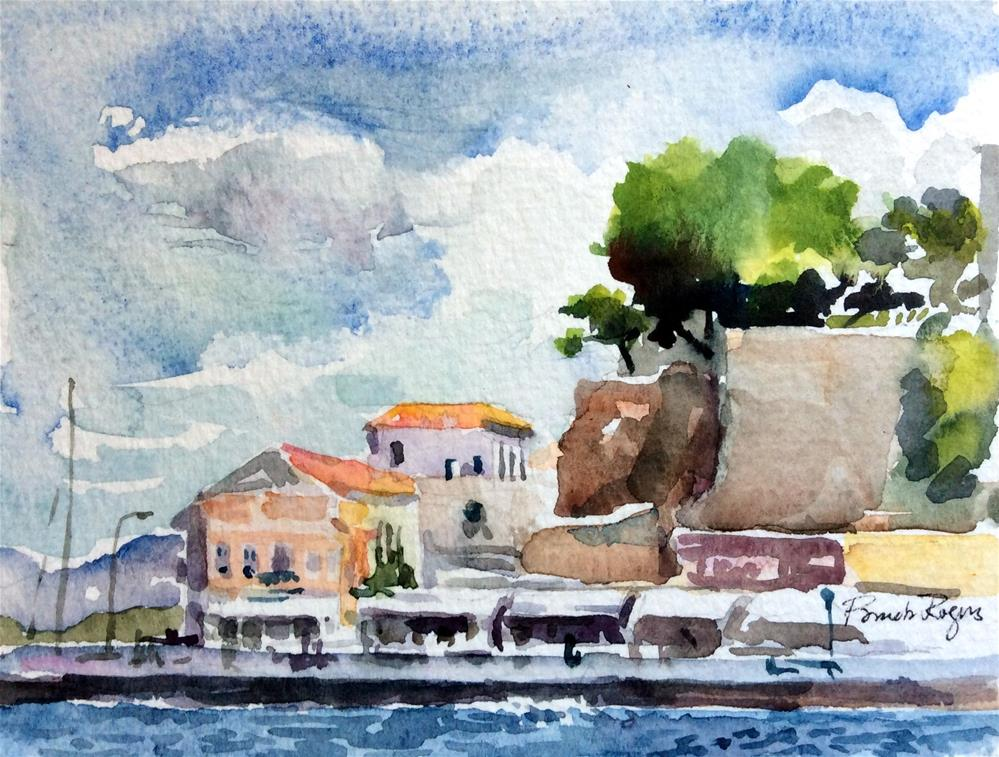 """Hania, Crete"" original fine art by Pamela Jane Rogers"