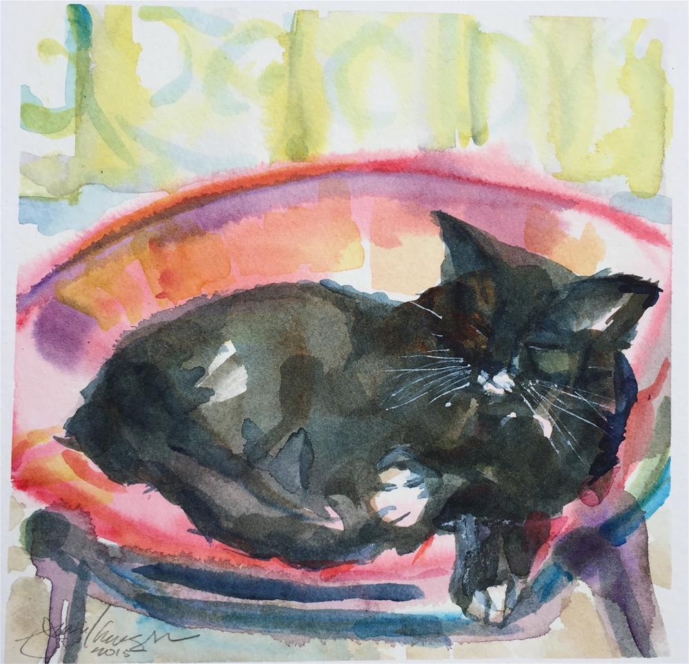 """Cat"" original fine art by Jean Krueger"