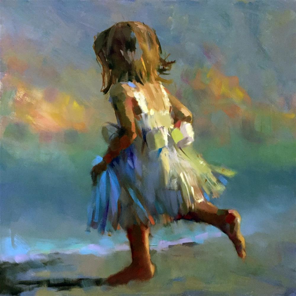 """Child's Play"" original fine art by Trisha Adams"