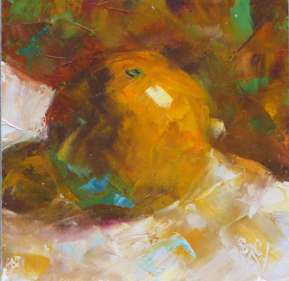 """Spinning"" original fine art by Susan Woodward"