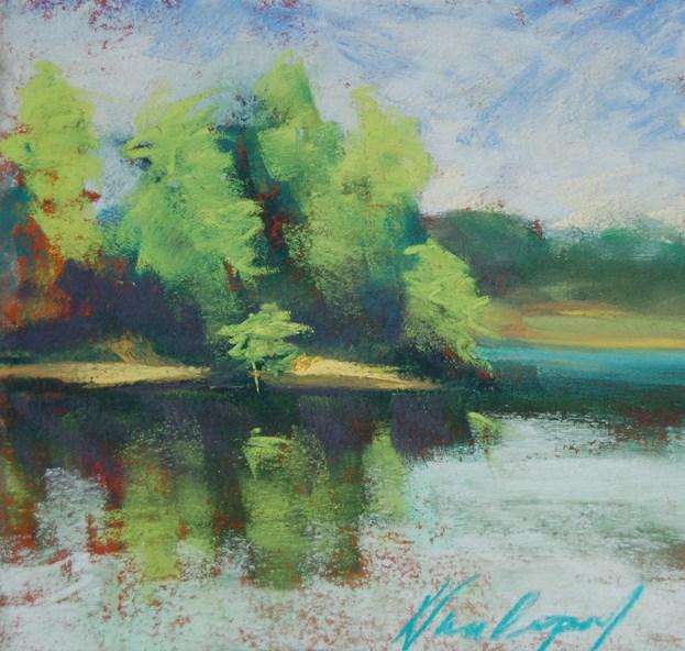 """""""White Rock Plein Air"""" original fine art by Karen Vanderpool"""