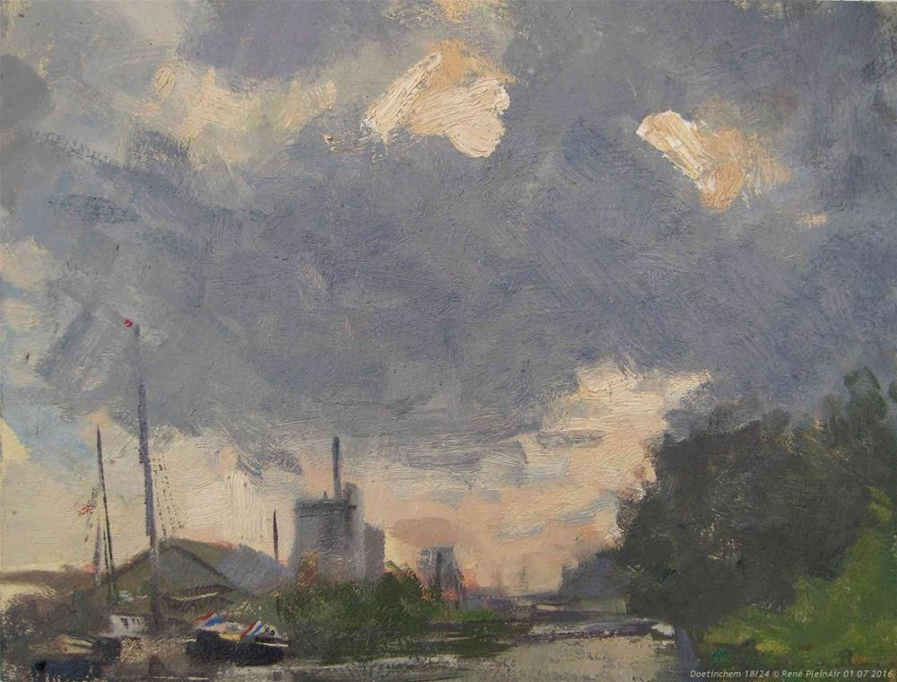 """Doetinchem. The Netherlands"" original fine art by René PleinAir"