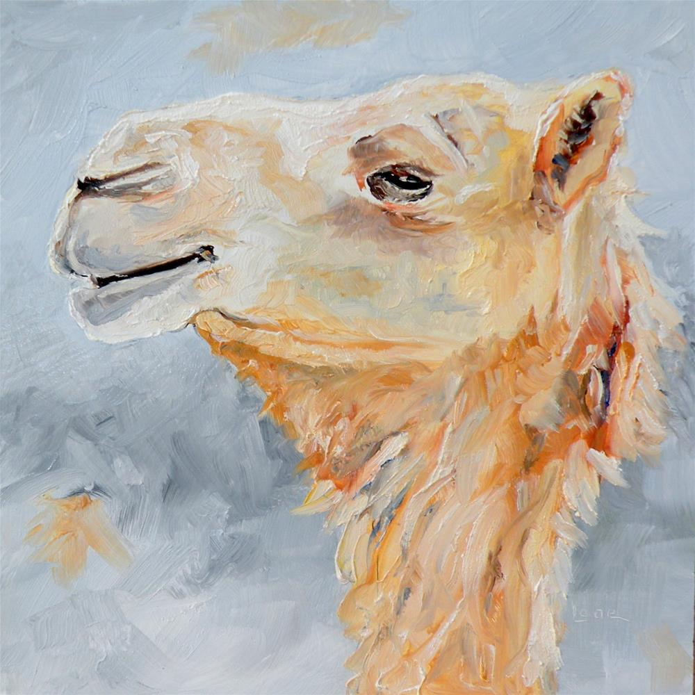 """CAM A CAMEL ORIGINAL OIL ON PANEL © SAUNDRA LANE GALLOWAY"" original fine art by Saundra Lane Galloway"