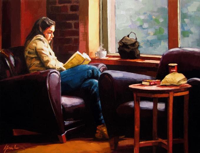 """Comfy"" original fine art by Karin Jurick"