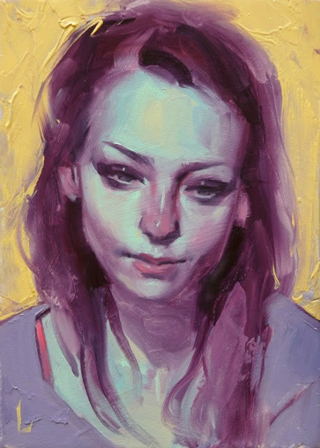 """Pale Blue"" original fine art by John Larriva"