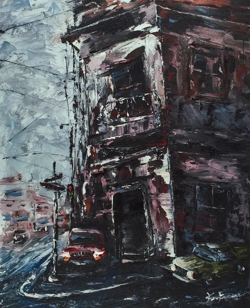 """City Street 3"" original fine art by Ken Fraser"