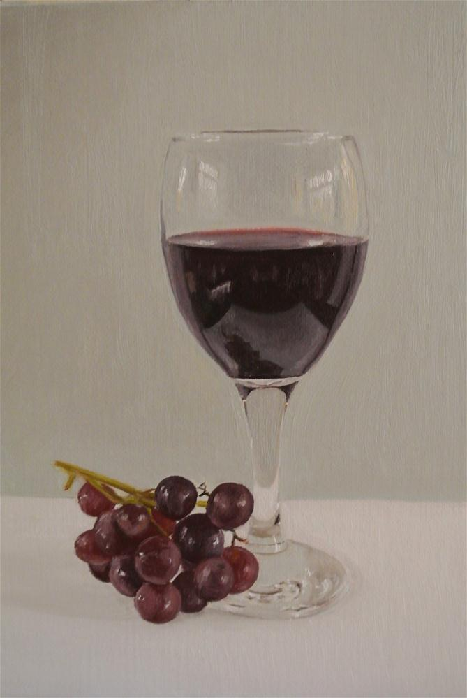 """Wine and grapes"" original fine art by James Coates"