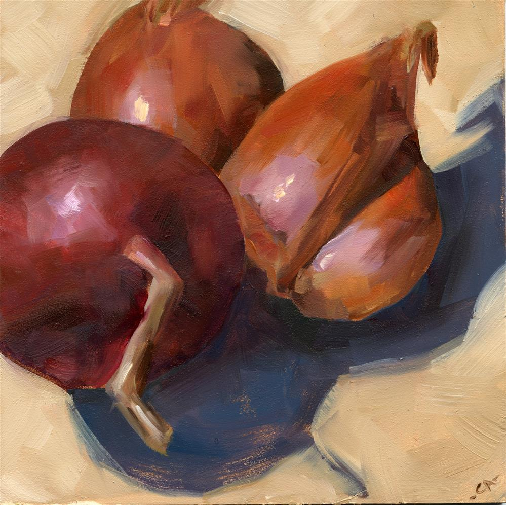 """Shallots & Onion"" original fine art by Cynthia Armstrong"
