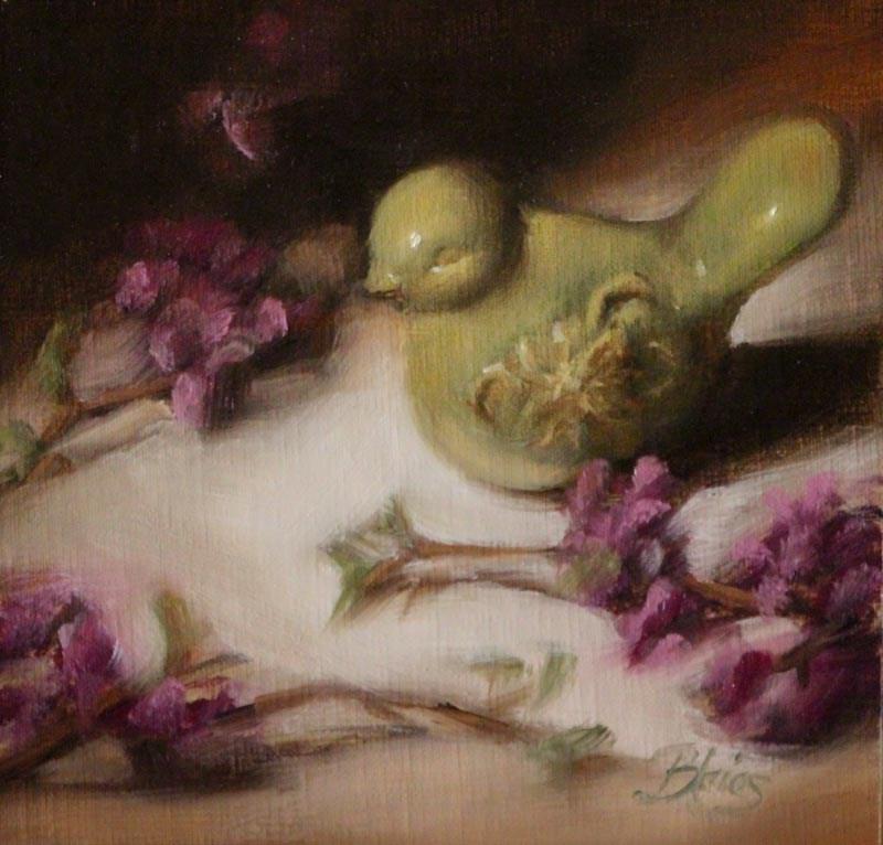 """A Little Birdie Told Me"" original fine art by Pamela Blaies"