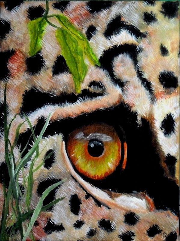"""Leopar Eye"" original fine art by Dia Spriggs"
