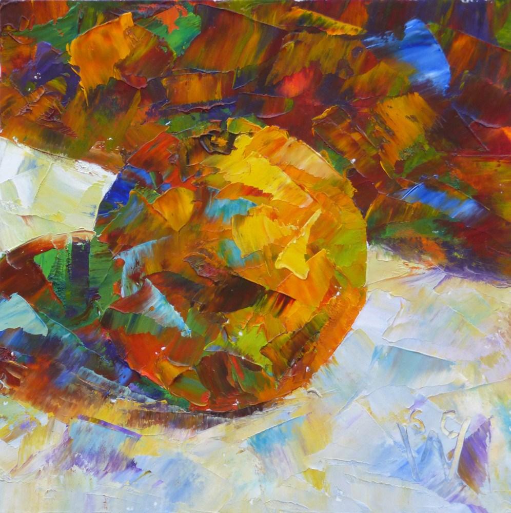"""Orange Flash"" original fine art by Susan Woodward"