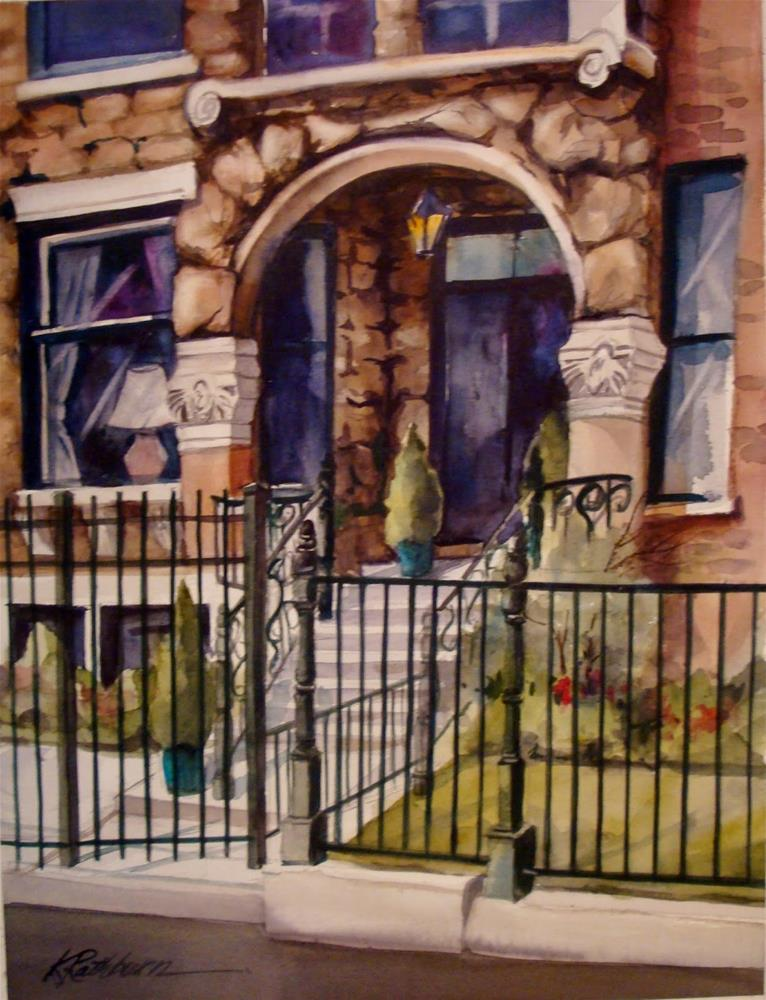 """Chicago Fenced In"" original fine art by Kathy Los-Rathburn"