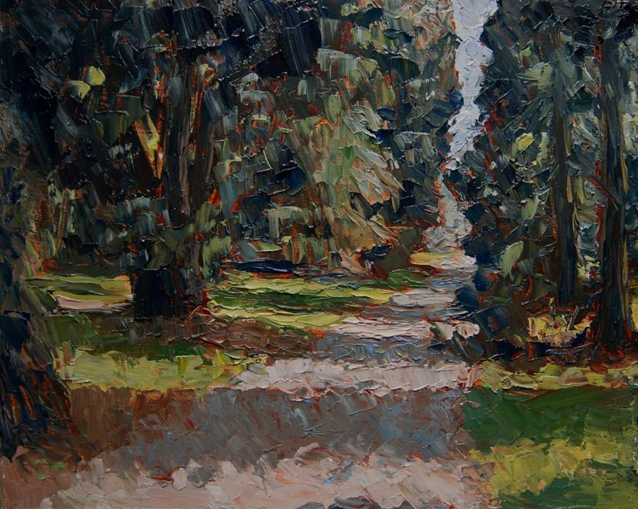 """Wooded Way"" original fine art by Jethro Knight"