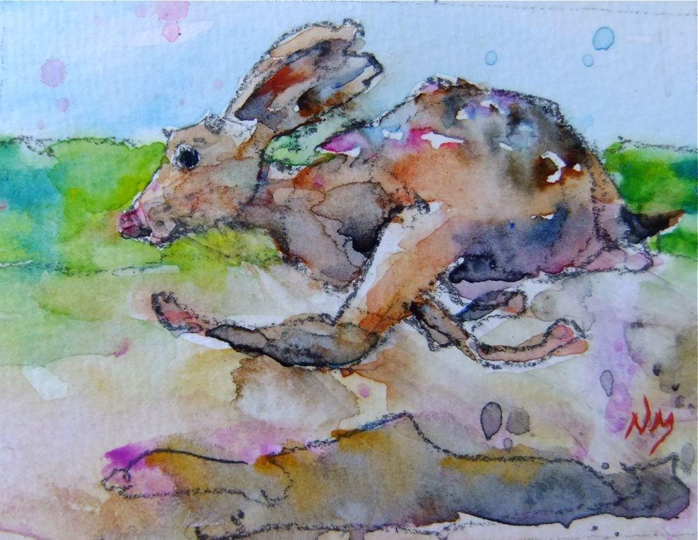 """toodles"" original fine art by Nora MacPhail"