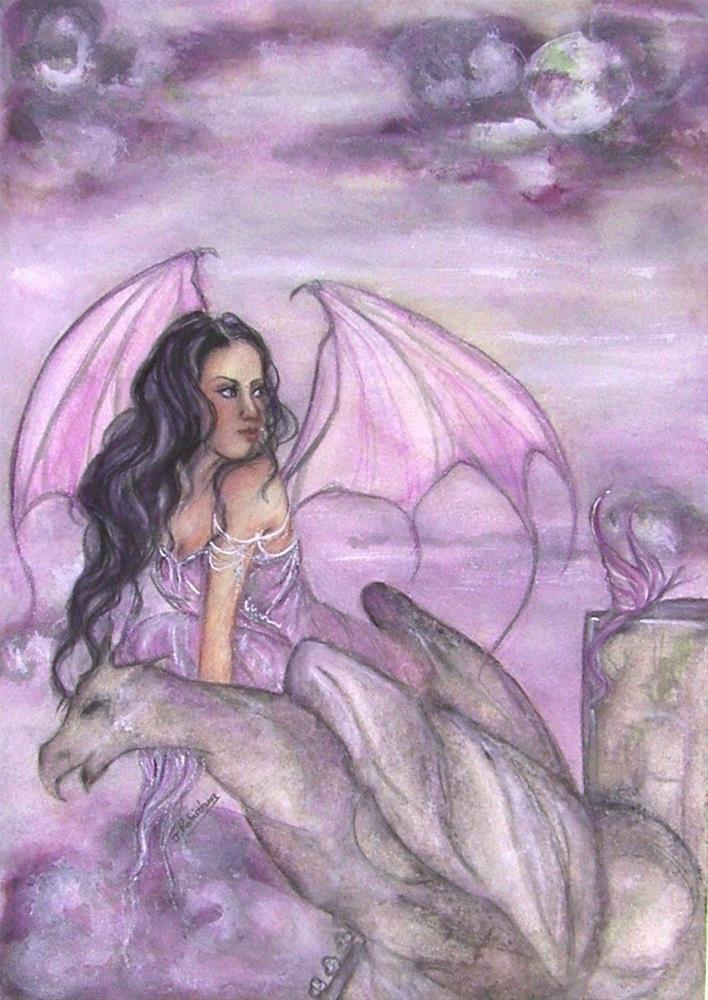 """""""Chimera"""" original fine art by Julie Rabischung"""