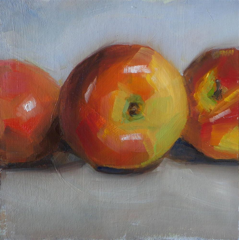 """Apples trio"" original fine art by Maria Z."