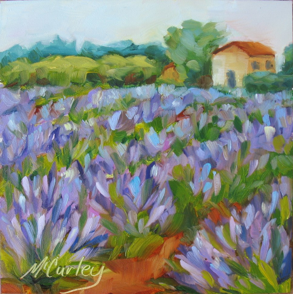 """Lavender Field"" original fine art by Melisa McCurley"