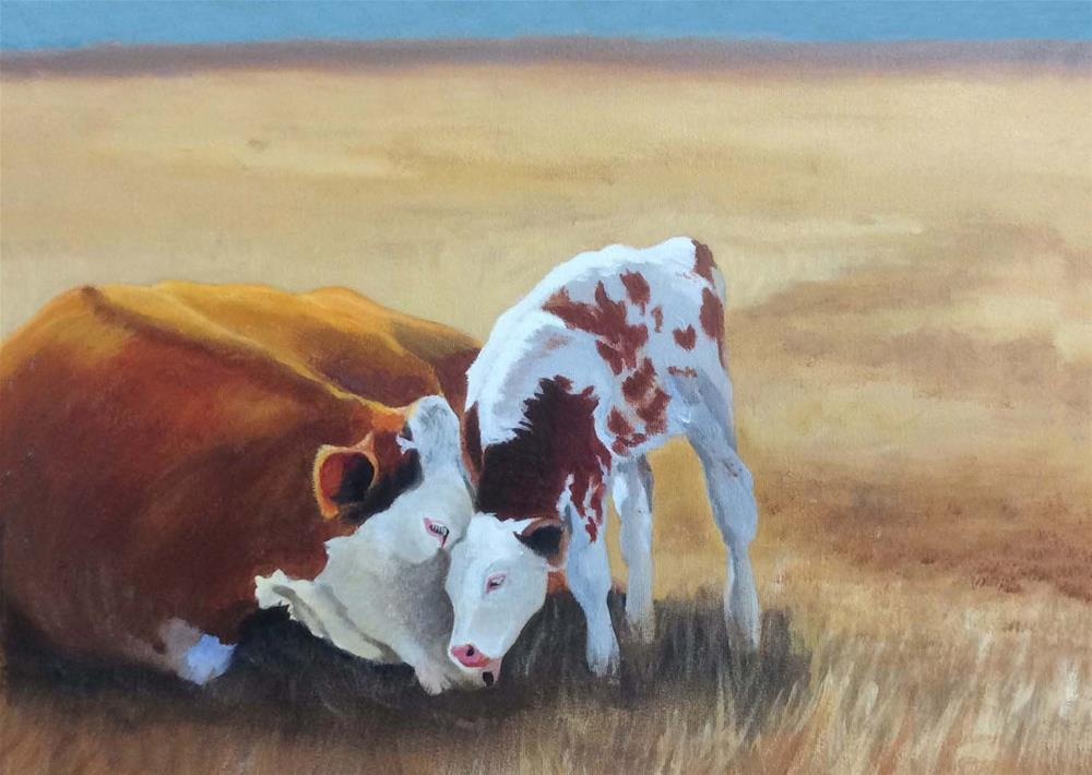 """Mothers Love"" original fine art by Michelle Wolfe"