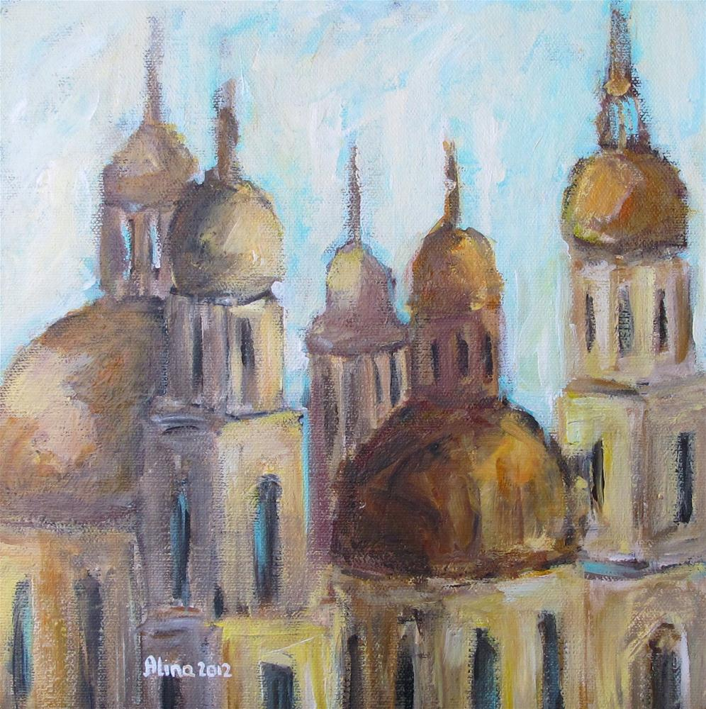 """Domes"" original fine art by Alina Vidulescu"