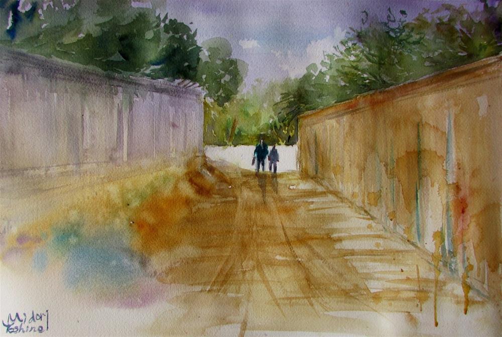 """Al Muwaiji district, 3rd Street, Al Ain"" original fine art by Midori Yoshino"