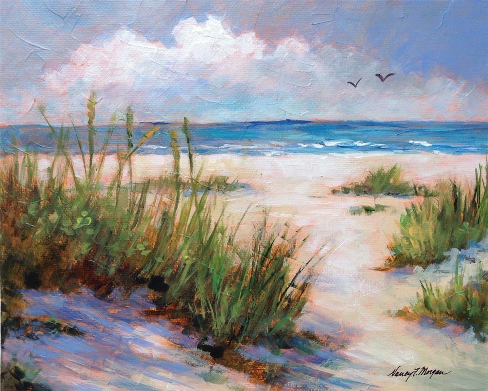 """Sea and Sand"" original fine art by Nancy F. Morgan"