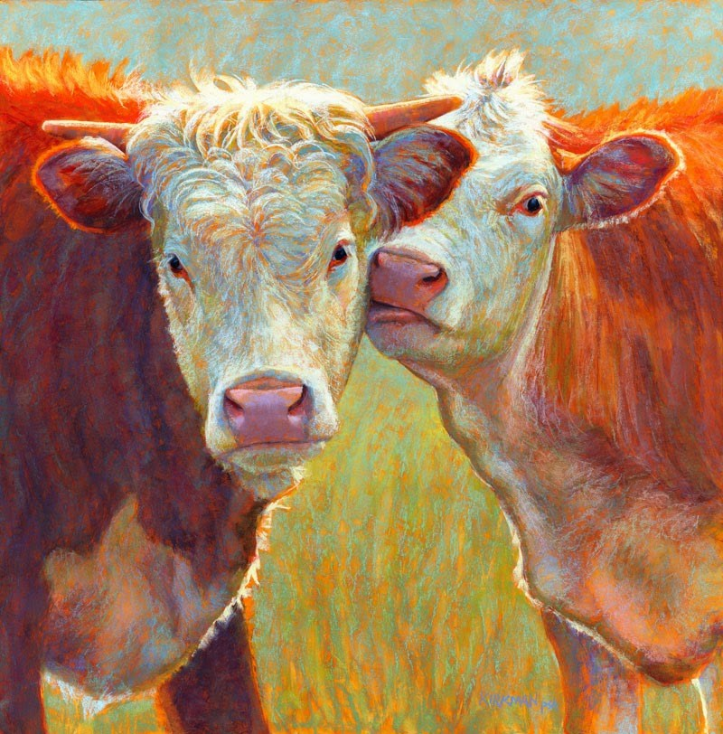 """Muzzle Nuzzle"" original fine art by Rita Kirkman"