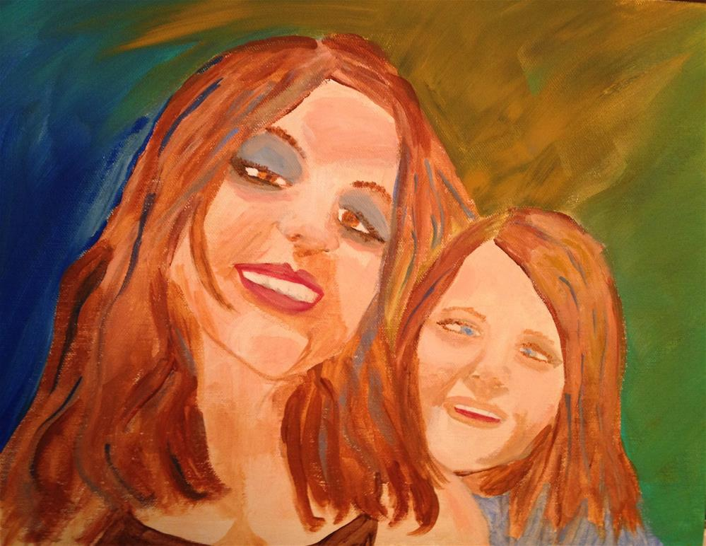 """Jaymie & Her Mommy"" original fine art by Brenda Smith"