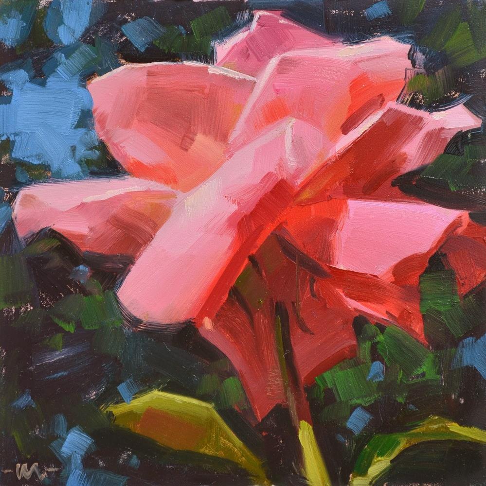 """Talk to Me Rose"" original fine art by Carol Marine"