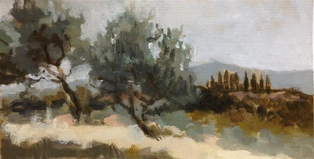 """Tuscan plein air 1"" original fine art by Christine Bayle"