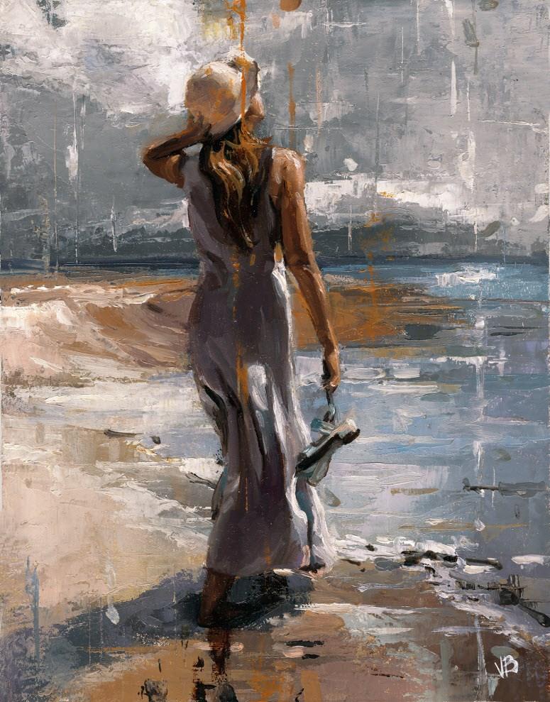 """Ocean-3"" original fine art by Victor Bauer"