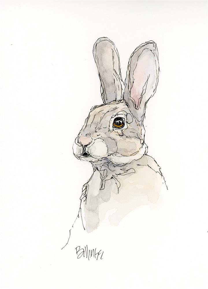 """Another Bunny VII"" original fine art by Susanne Billings"
