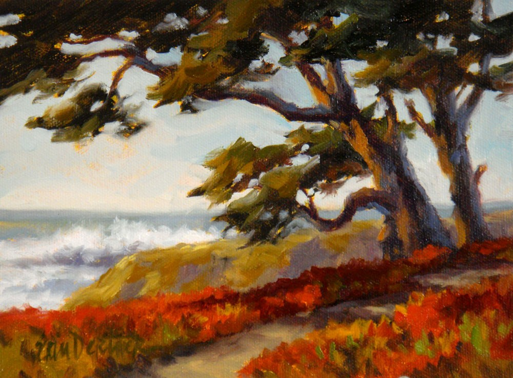 """Cypress and Succulents"" original fine art by Erin Dertner"