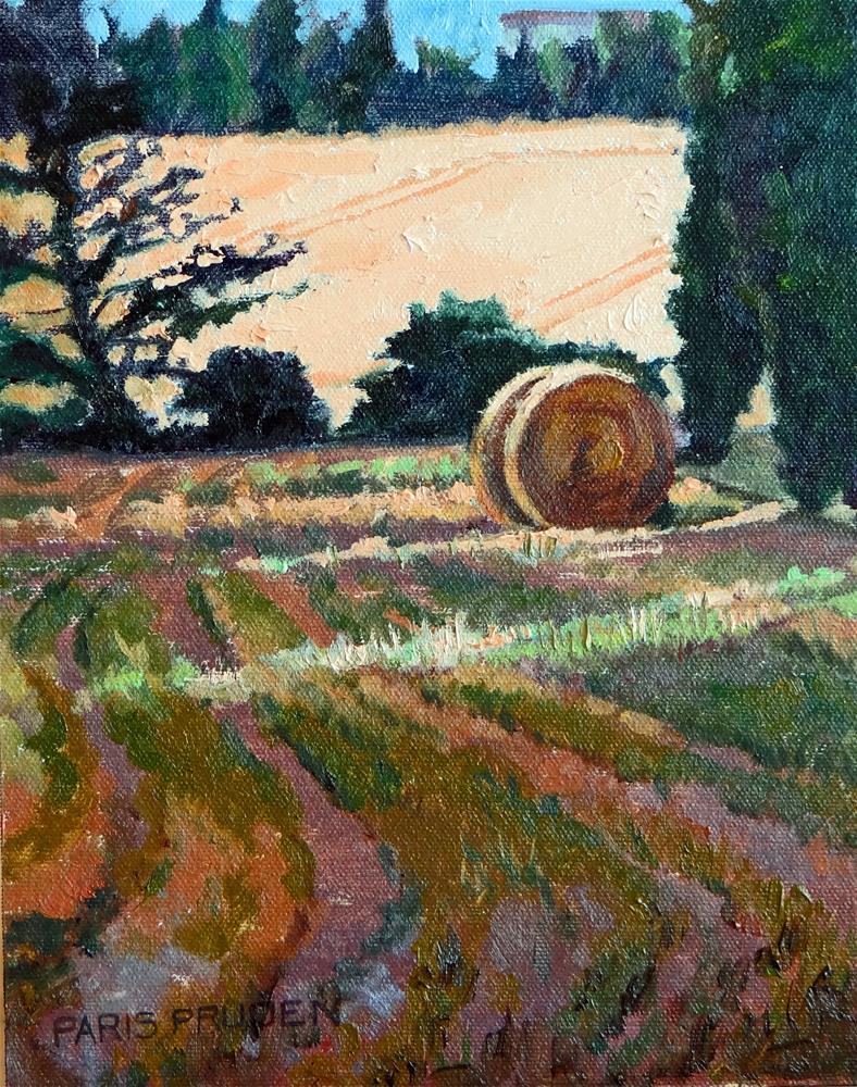 """""""Field of Wheat in France"""" original fine art by Nancy Paris Pruden"""