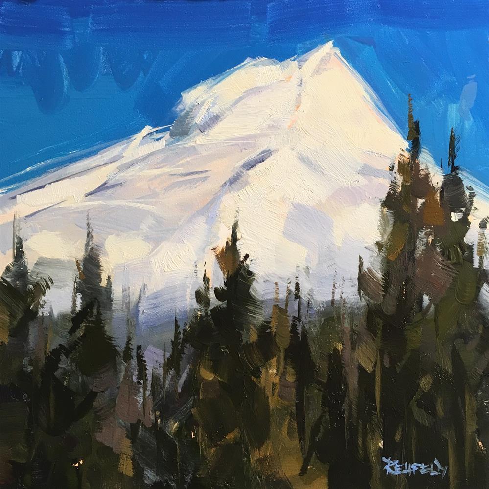 """Mt Hood Up Close"" original fine art by Cathleen Rehfeld"