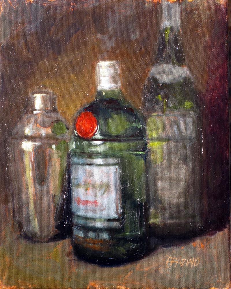 """shaken not stirred"" original fine art by Dan Graziano"