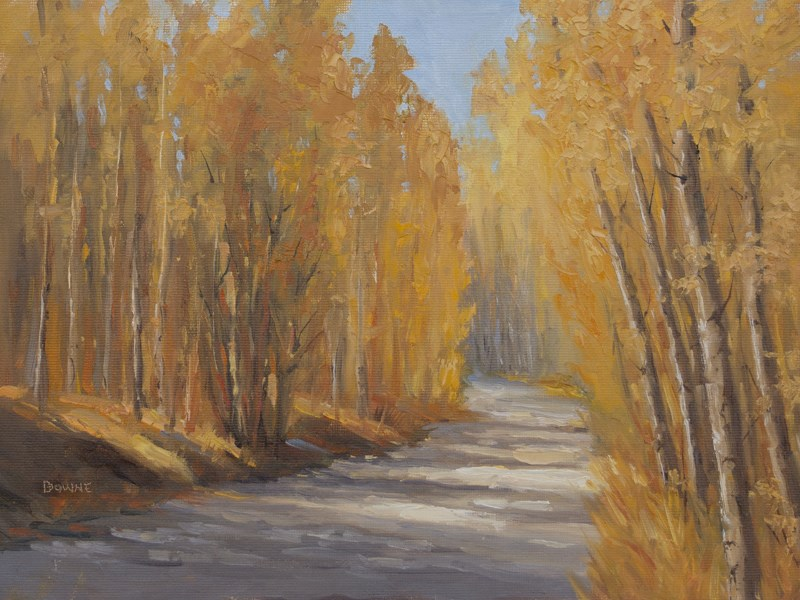 """Aspen Tunnel"" original fine art by Bonnie Bowne"