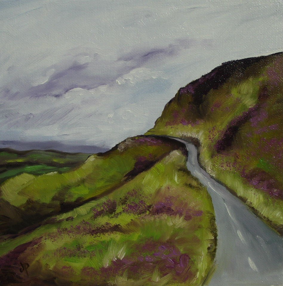 """Welsh Hillside"" original fine art by Jane Palmer"