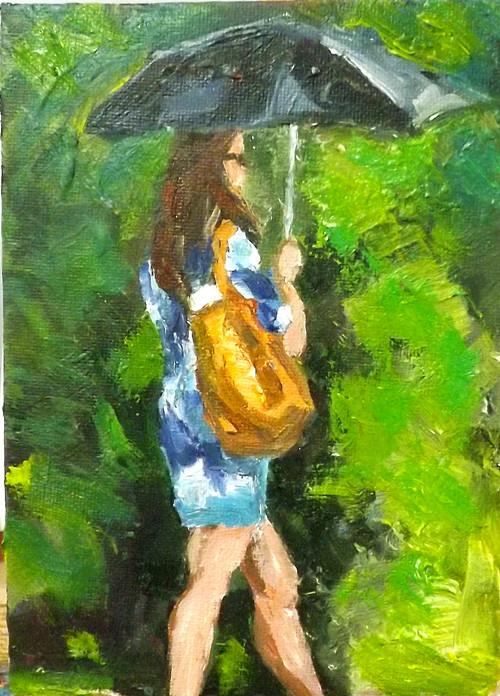"""walking,M5"" original fine art by Run-      Zhang Zane"