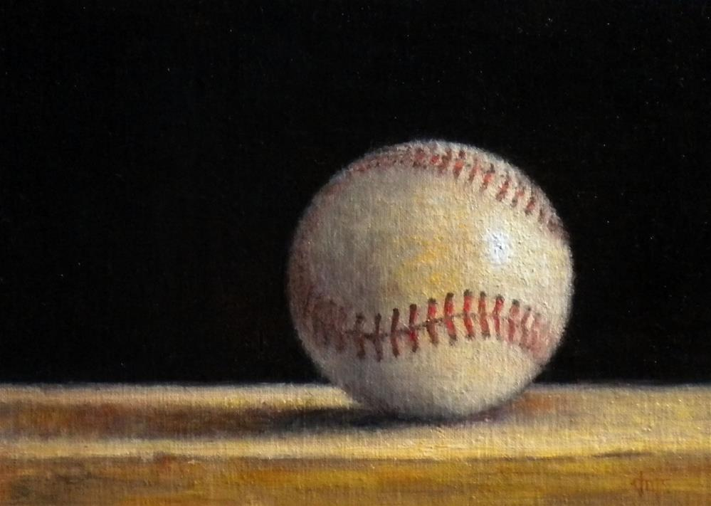 """Baseball for Tyler"" original fine art by Darla McDowell"