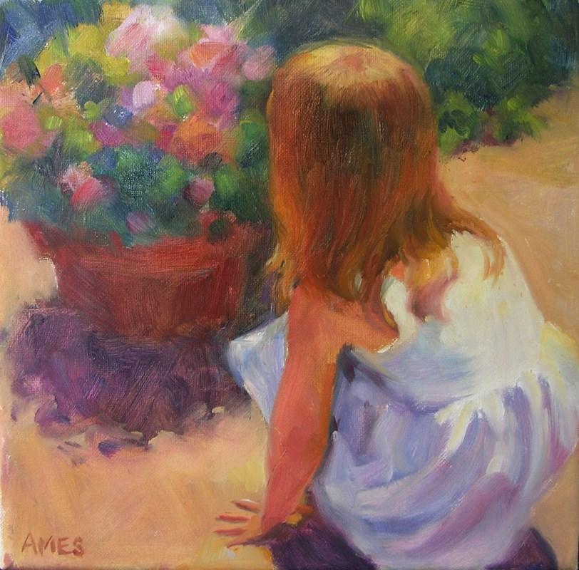 """""""On the Patio"""" original fine art by Debra Ames"""